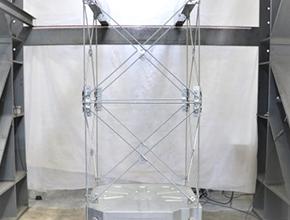 3:中間・上部斜材ボルトの取付