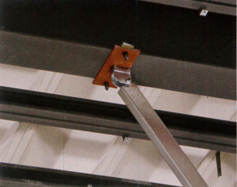 耐震天井ブレース接続例