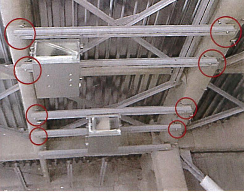 設備架台設置例(耐火被覆:巻き付け式耐火被覆に対して)